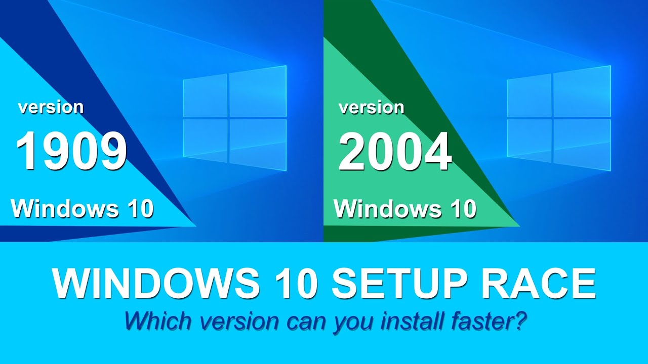windows 10 2004 vs 1909