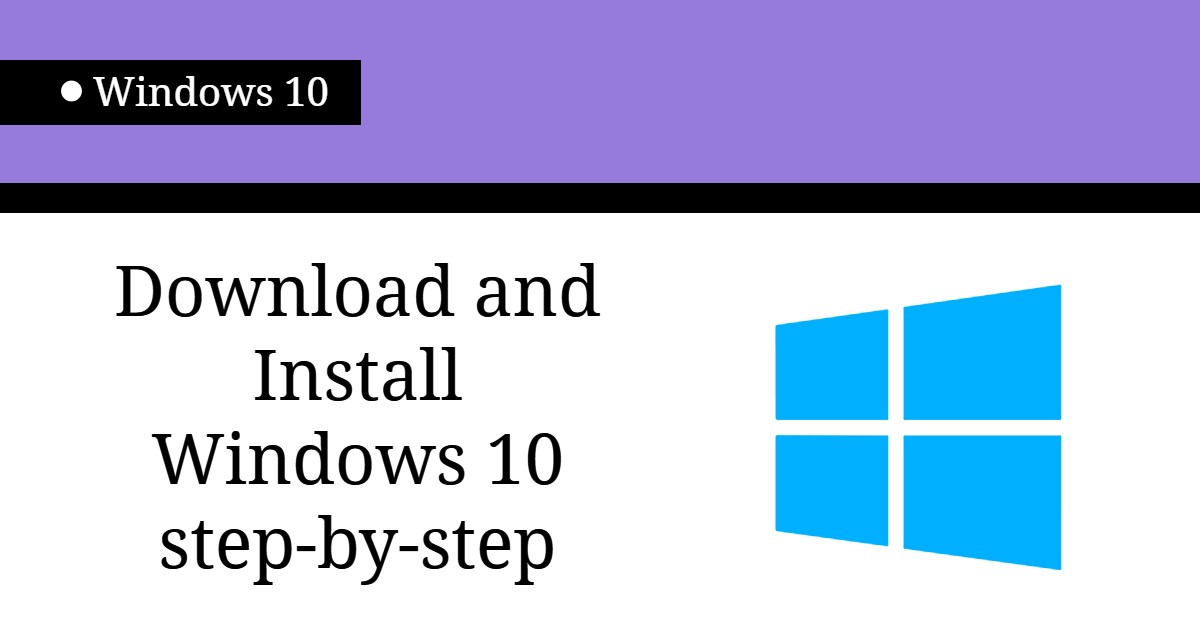 windows 1o install